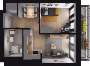 Mieszkanie 68 / 33