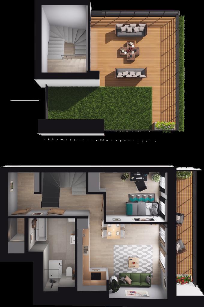 Mieszkanie 70 / 35